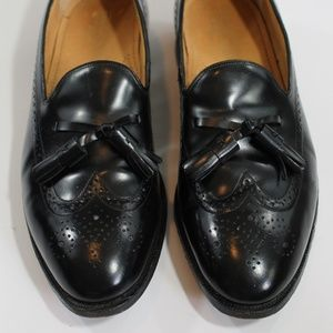 Johnston & Murphy Optima black wing tip loafers